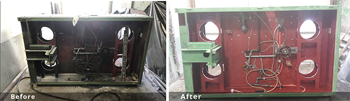 before and after soda blasting